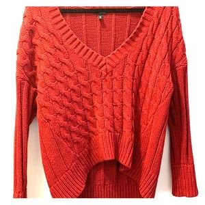 Red Express Knit Sweater